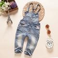 2016 Spring autumn children's clothing baby bib pants infant trousers child denim pants overall pants Bebe infant jeans pants