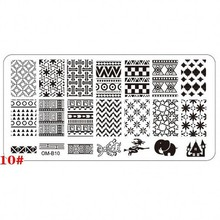 1 x Nail Art Stamping Plate Template Geometric Pattern Nail Art Design Nail Stamps Plates Stencils for Nail Art Painting OM-B10#