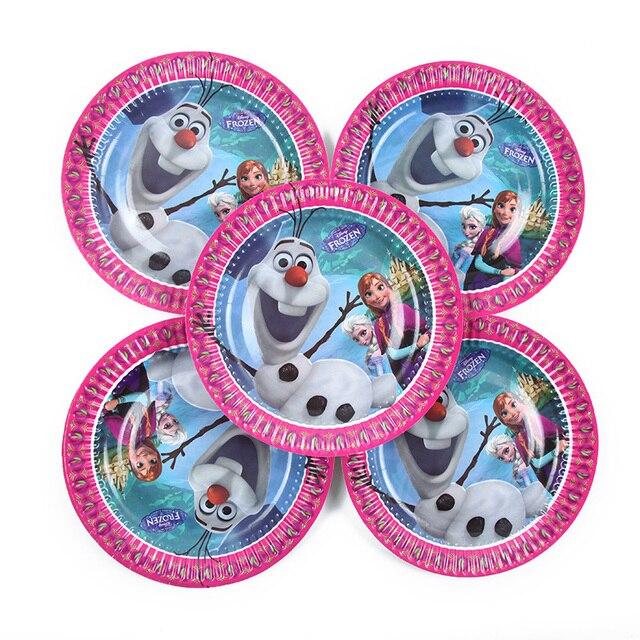 Anna e Elsa Principessa Di Compleanno Decorazioni Festa per bambini Stoviglie Usa E Getta Decorazioni Festa di Compleanno Forniture 3