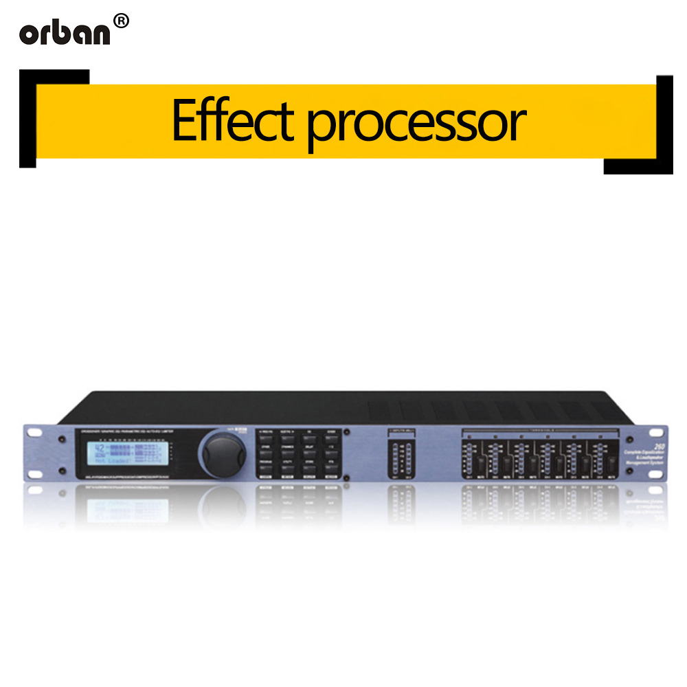 260 Digital Audio Processor 3 In 6 Out Professional Stage Advanced Crossover Effect Processor