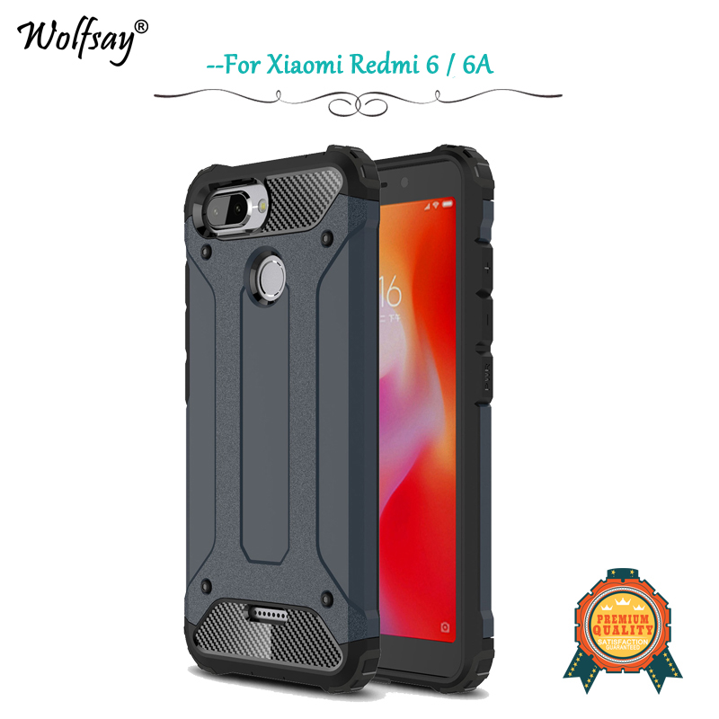 Xiaomi Redmi 6 Case Shockproof Armor Rubber Silicone Hard PC Case Xiaomi Redmi 6 6A Back Cover Xiaomi Redmi 6 6A Protective Case-in Fitted Cases from Cellphones & Telecommunications on Aliexpress.com | Alibaba Group