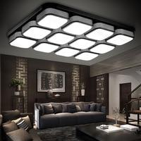 Modern brief square led ceiling light bedroom ceiling lamp rectangle living room ceiling lamp 20W 36W 54W 72W 80W