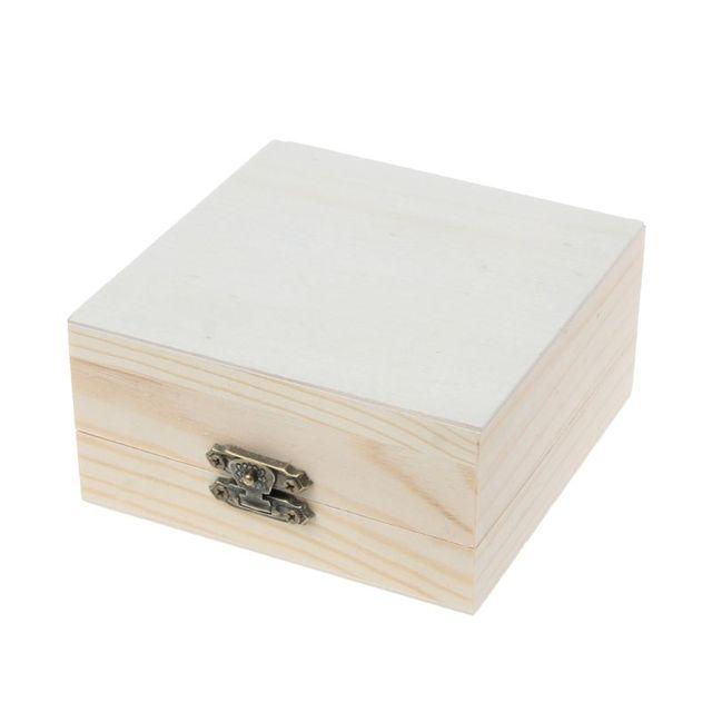 Фото коробка из натурального дерева необработанные простые деревянные