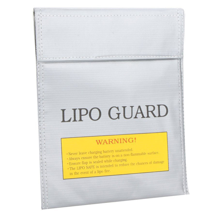 RC LiPo Battery Safety Bag Safe Guard Charge Sack 22 * 18 cm Silver