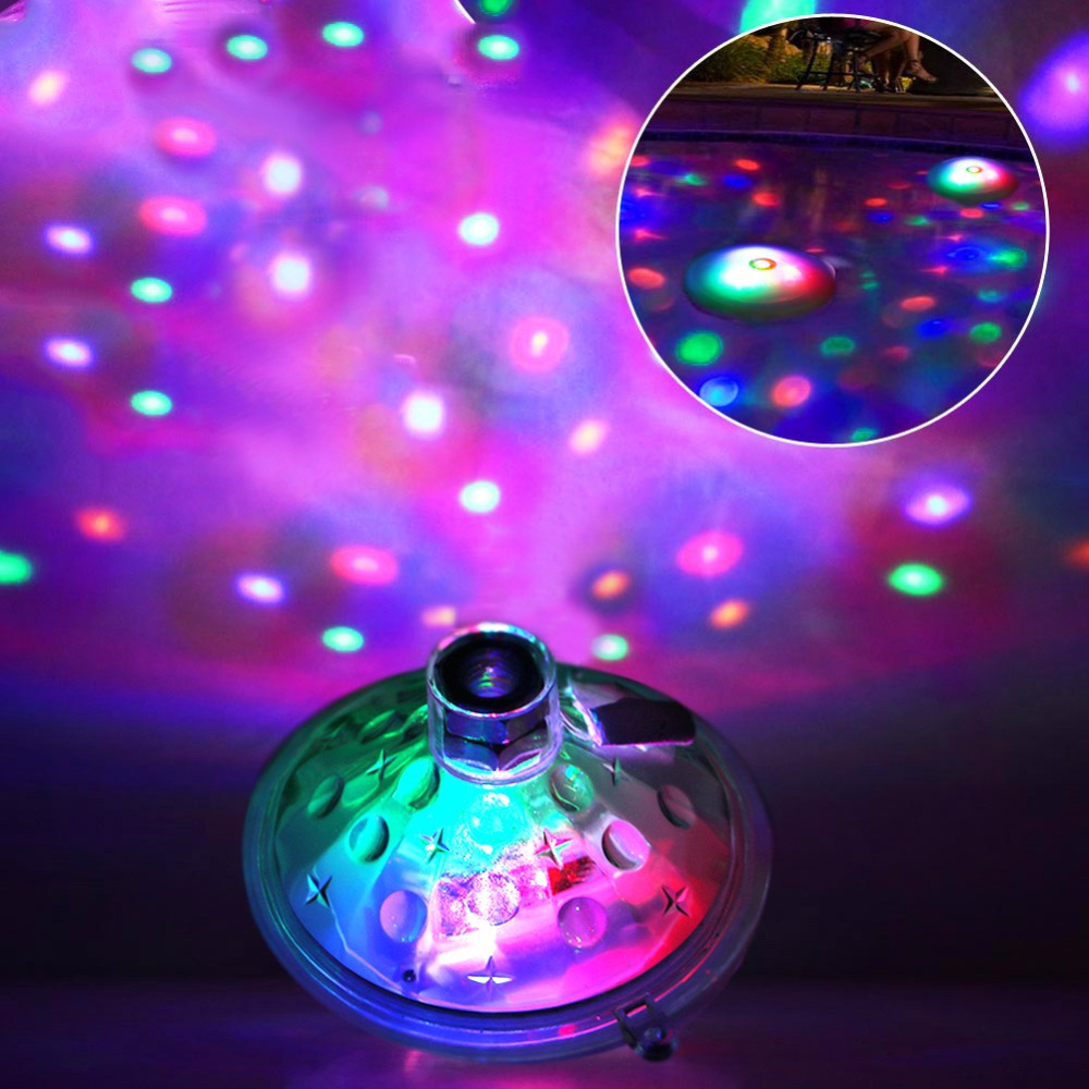 Glowing LED Underwater Lamp Fountain Light Waterproof Disco Party ...