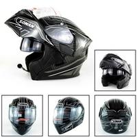 Dot Bluetooth Double Visor Full Face Helmet Motorcycle Helmets Motorbike Capacetes Moto Cascoes