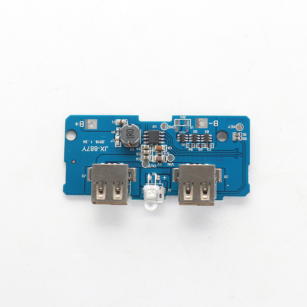 3.7V To 5V 2A Boost Module DIY Power Bank Mainboard Circuit Board Double USB Output