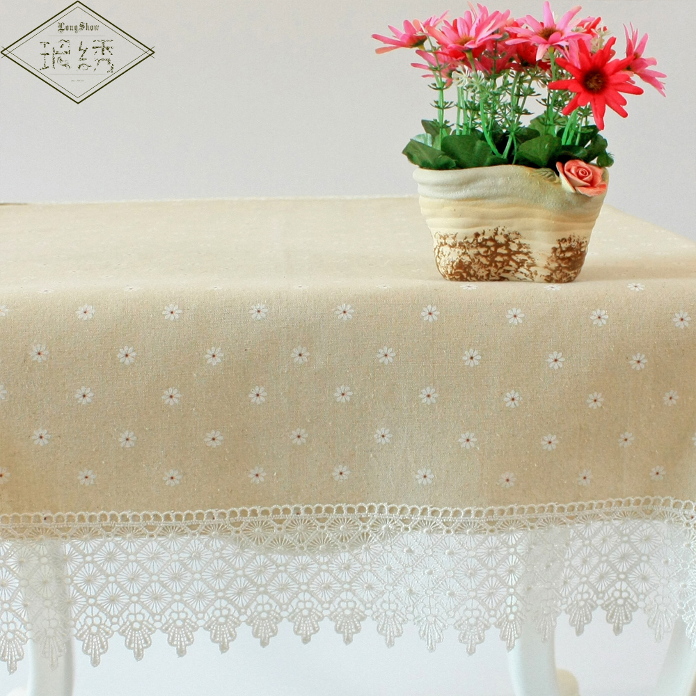 2017 Newest Design Cute Polka Dot Linen Embroidered Lace Trim Linen  Tablecloth In Tablecloths From Home U0026 Garden On Aliexpress.com | Alibaba  Group