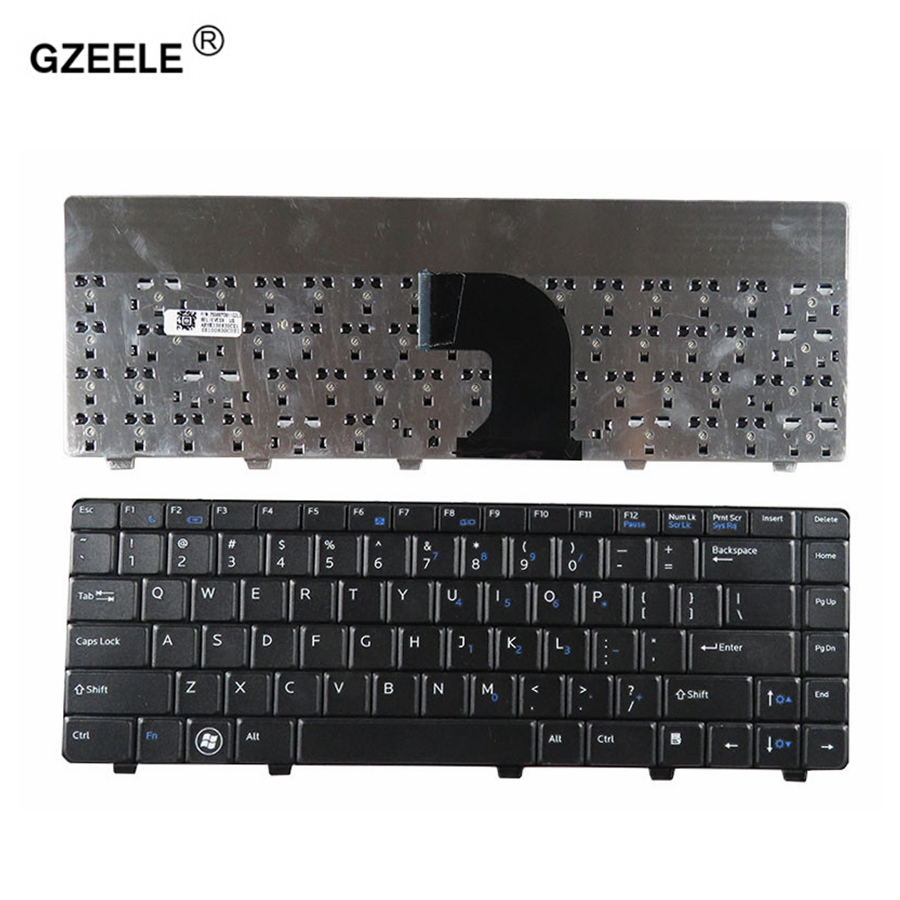 GZEELE New US Laptop Keyboard For <font><b>Dell</b></font> Vostro 3300 3400 <font><b>3500</b></font> v3500 v3300 v3400 P10G Black New English keyboard image