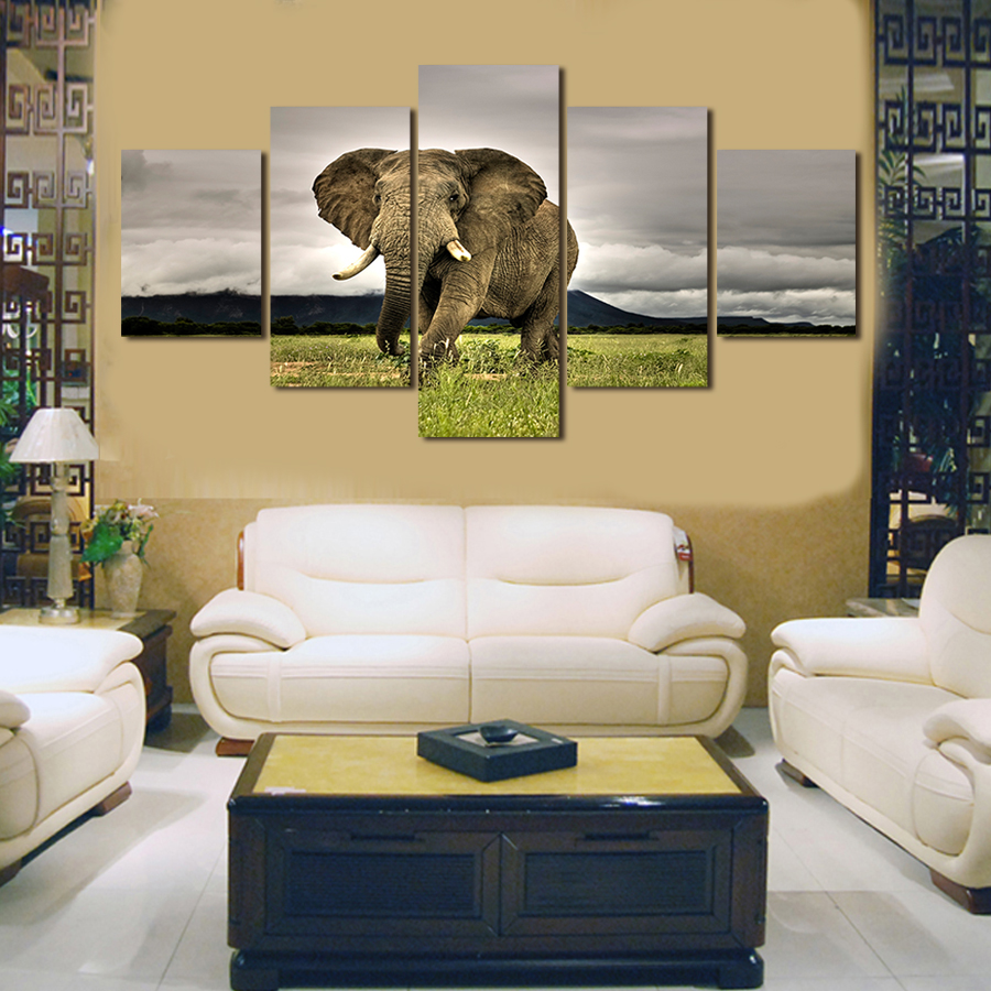 Hot Sell Animal elephant Modern Painting Wall Art Picture Paint on ...