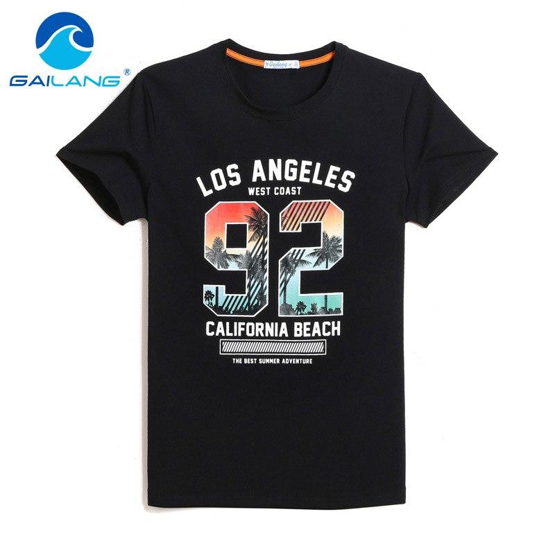 1da596c4400ee Gailang Brand New Arrival 2018 men Designer T Shirt Casual Quick Dry Slim  Fit Shirts Tops   Tees Plus Size Men Cotton Tshirt New