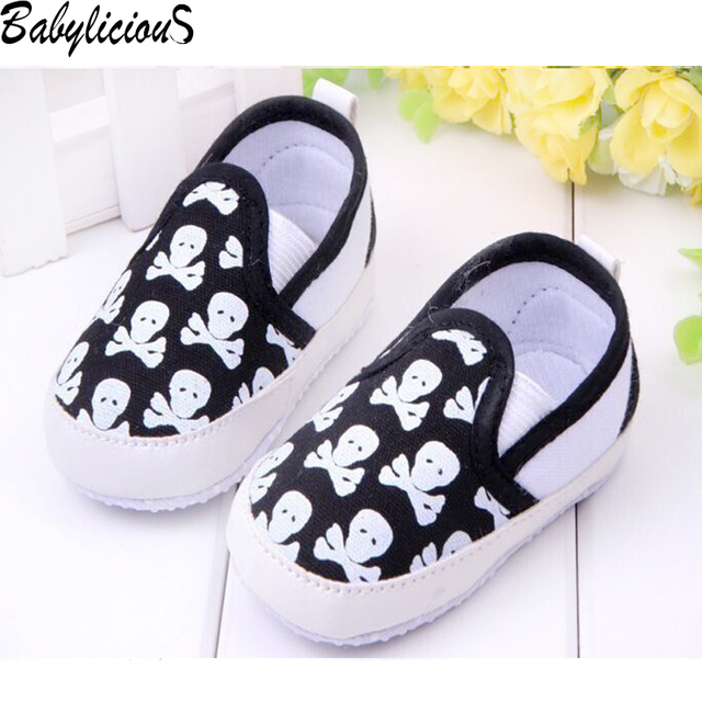 Fashion Spring&Autumn Baby Shoes Cool Skull Antiskid Toddlers Shoes First Walkers Sapato Bebe Menino Free & Drop Shipping