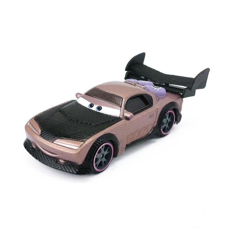 Disney Pixar Cars 2 Boost con llamas juguete de Metal fundido coche en miniatura de aleación para niños regalo 1:55 juguetes nuevos en Stock Disney Pixar coches 3 señorita Fritter Cal Jackson tormenta Dinoco Cruz Ramírez 1:55 Diecast Metal de juguetes modelo de coche regalo de cumpleaños para niños