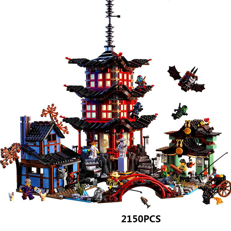 Lepin 06022 Compatible Legoed Ninjagoes Temple of Airjitzu 70603 Ninja Building Blocks Bricks Toys Brinquedo for Children Gift lepin 22001 pirate ship imperial warships model building block briks toys gift 1717pcs compatible legoed 10210