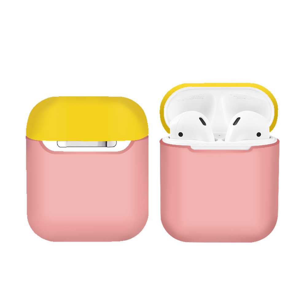 Ultra Tipis Warna Earphone Case Silikon Lembut untuk Apple Udara Pods Pelindung Benar Wireless Earphone Kotak Shockproof Protector