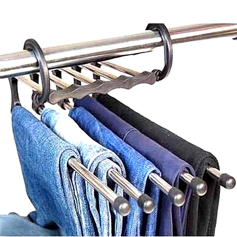 4 4 5 De Réduction 1 Pc Magic Pantalon Cintre Pantalon Placard 5 En 1 Pratique Et Pratique Dans Porte Manteaux De Maison Jardin Sur
