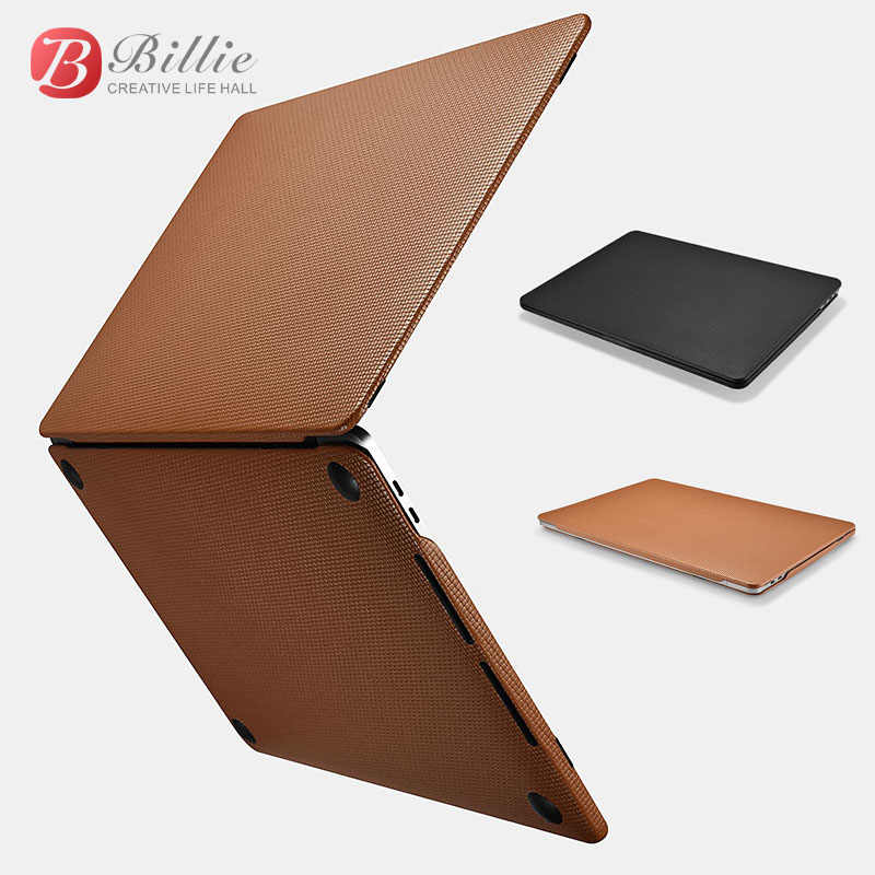 premium selection ddfbb 169fd Genuine Leather Cover Case For MacBook Pro 13 inch New 2017 Case Sleeve  Luxury Leisure Laptop Bags & Cases Protective Shell Cove