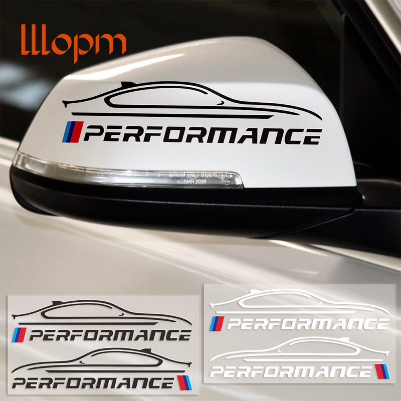 2pcs New performance Rearview Mirror Sticker Decal Car-Styling For BMW e46 e39 e36 e90 e60 f30 e30 e34 f10 exterior accessories 2pcs leather car seat leakproof pad cover leak plug seam cushion for bmw m performance e46 e39 e36 e60 e90 e34 f10 f30 e30 x5