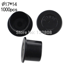 17MM Tattoo Inkcups Caps 1000pcs Plastic Tattoo Pigment Ink Cup Self-standing Large Size Black Cup Supply Tattoo