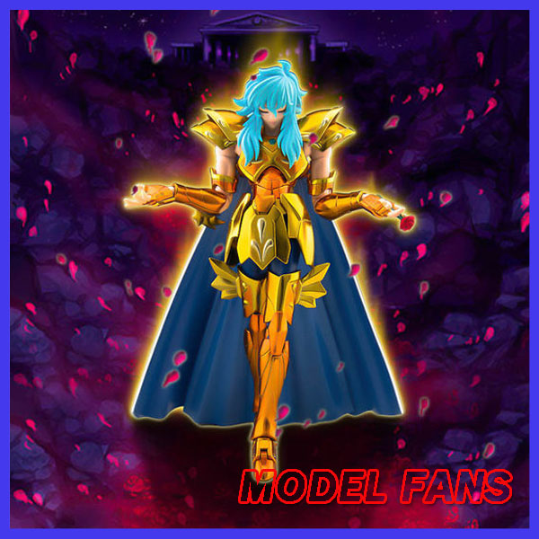 MODEL FANS INSTOCK S-Temple MC Model EX Pisces Aphrodite Gold Saint Seiya metal armor Cloth Myth action Figure new arrival s temple model st taurus aldebaran saint seiya metal armor myth cloth gold ex action figure toy