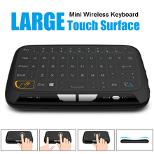 Universal Remote Control 2.4G Air Mouse with Large Touchpad H18 Mini Keyboard for Smart TV Box Tablet PC X92 Samsung PK i8