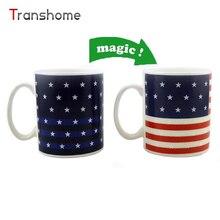 Neue Amerikanische Flagge Becher Magie Farbwechsel Weiß Porzellan Tassen Kaffee Tee Milch Wasserbecher Für Home Office Transhome