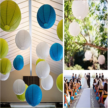 10pcs 30cm(12) Chinese round paper lantern wedding festival decoration mix color