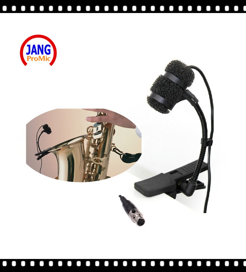 Professional Music Instrument Microfone Saxophone Condenser Microphone for AKG Samson Wireless Transmitter XLR 3Pin Microphones  professional lapel music instrument microfone double bass microphone lapeal for shure wireless system xlr mini microphones