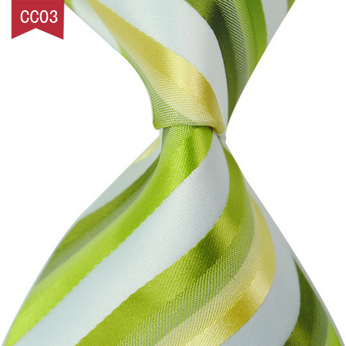 Luxury Green Plaid Ties For Men Wedding Business Party Summer Jacquard Gravatas Silk Ties For Wedding Business Gift