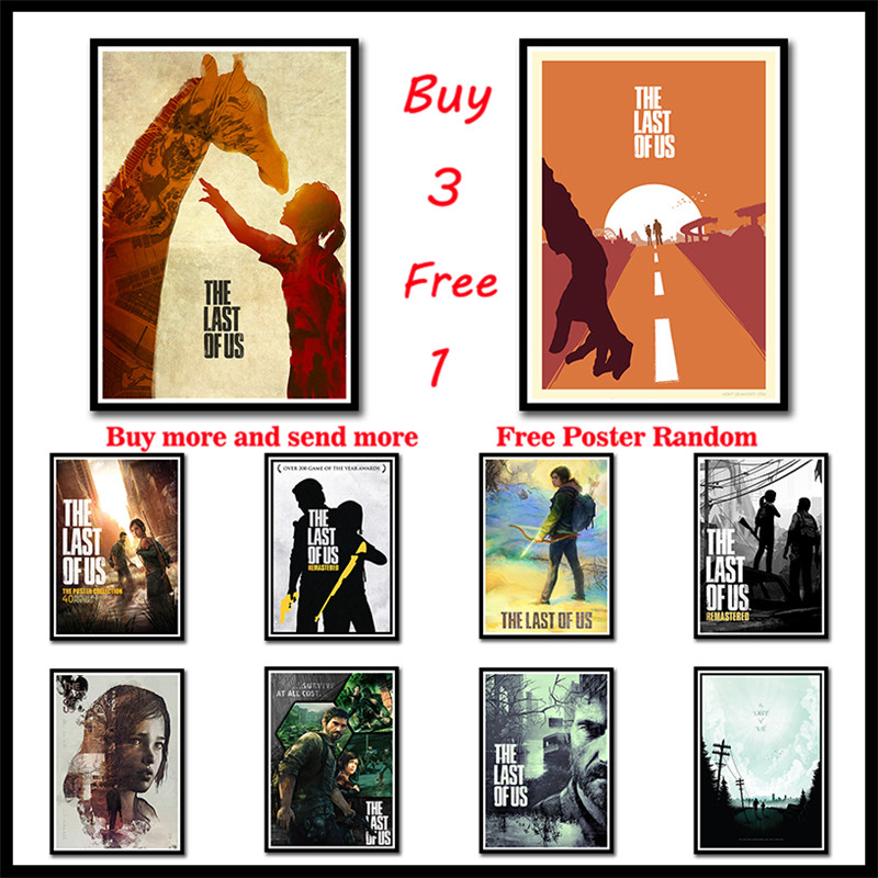 The Last Of Us Art Coated Paper Posters Print Zombie Survival Horror Action TV Game Pitcures Frameless