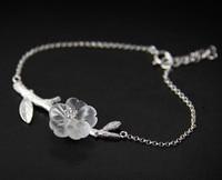 LiiJi Unieke 925 Sterling Zilveren Natuurlijke Kristal Bloem Statement Armband Voor Vrouwen Sieraden 16 cm/6.25 ''+ Extra keten 3 cm/1''