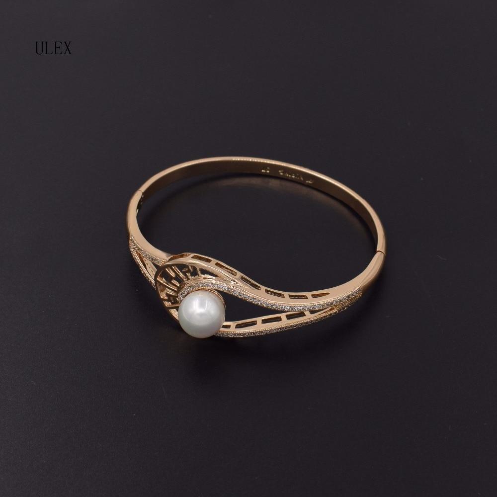 Улекс классический AAAAA Циркон натуральный жемчуг тонкой jewllery золотое покрытие браслет для Для женщин jewelry браслет Одежда высшего качества ю... ...