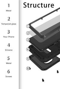 Image 5 - Samsung Galaxy S10 Artı Durumda AŞK MEI Şok Kir Geçirmez Su Geçirmez Metal Zırh Kapak Telefon Samsung kılıfı Galaxy S10e