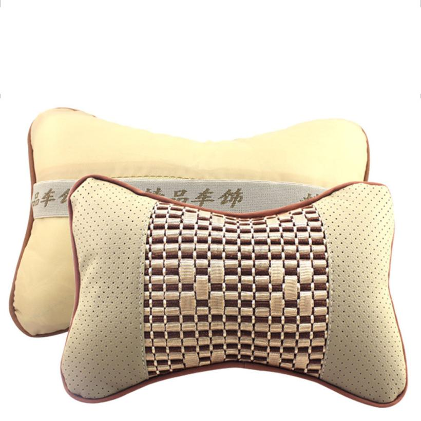 New Arrival High Quality Perforating leather Car Headrest Supplies Neck Auto Safety Pillow Ap23
