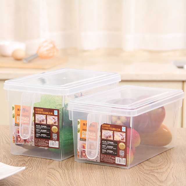 Small New Food Container Kitchen Organizerfood Storage Boxes Plastic Dividers For Transparent Stash Freshness & Small New Food Container Kitchen Organizerfood Storage Boxes ...