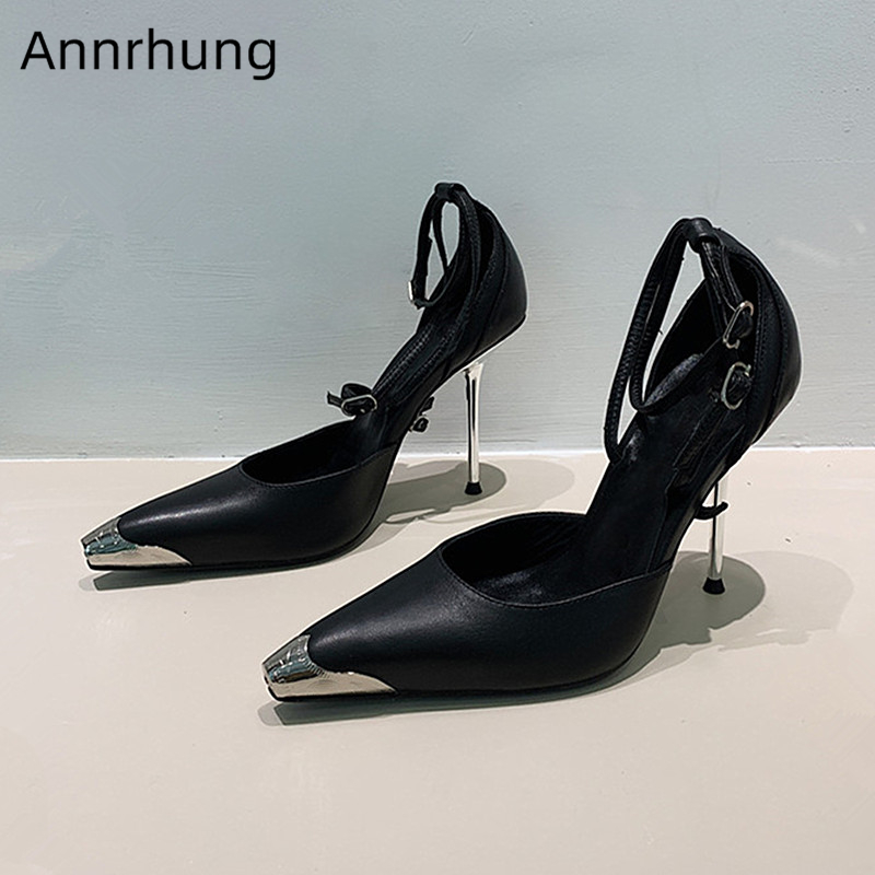 Newest Metal Toe Women Sandals Buckle Strap High Heels Sexy Kitten Heel Shoes Fashion Leather Catwalk Gladiator Sandals MujerNewest Metal Toe Women Sandals Buckle Strap High Heels Sexy Kitten Heel Shoes Fashion Leather Catwalk Gladiator Sandals Mujer