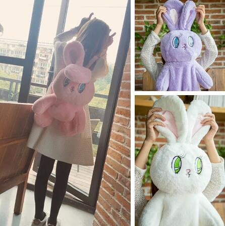 Candice Guo Plush Toy Stuffed Doll WEGO Esther Loves Chuu Rabbit Soft Bunny Backpack Schoolbag Shoulder Bag Kid Girl Package 1pc