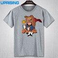 Shaquille O'Neal camiseta de la historieta de los hombres del deporte del baloncesto de Manga Corta cuello de O T shirt sportwear entrenamiento de baloncesto camiseta