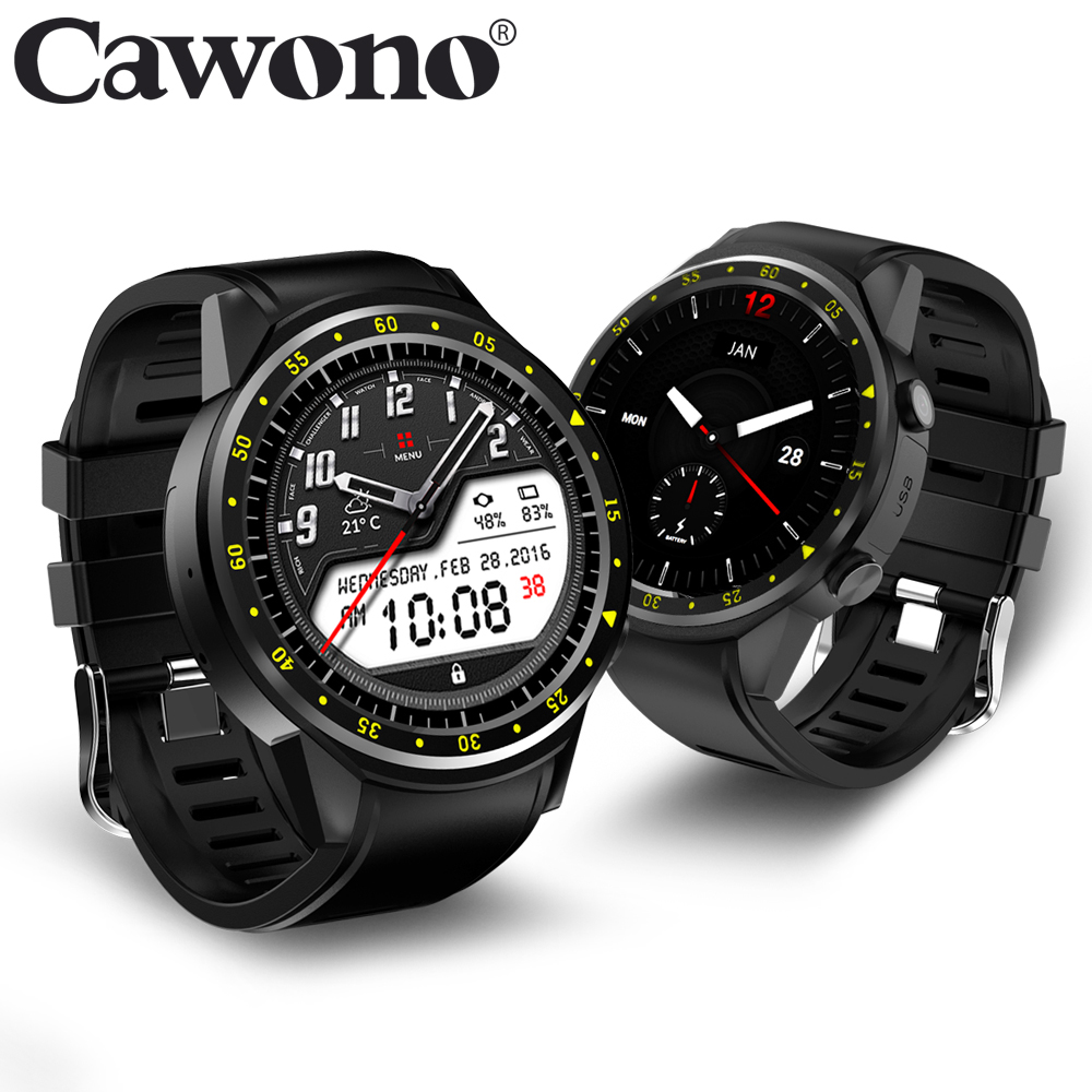 Cawono CN1 GPS Sim TF card Sport Wristwatch with Multi-sport Dials Mode Camera Altimeter Smart Watch Heart Rate for Men Woman