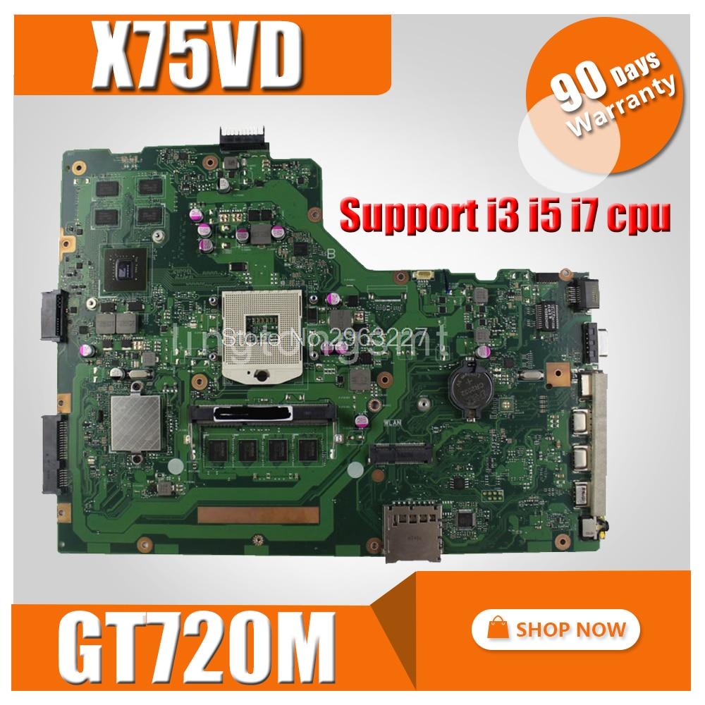 with 4GB RAM GT720M X75VC Motherboard For ASUS X75V X75VC X75VB X75VD1 R704V Laptop motherboard X75VC Mainboard 100% OK free shipping new brand original x75a x75vc x75vb motherboard main board with 2g ram memory 100