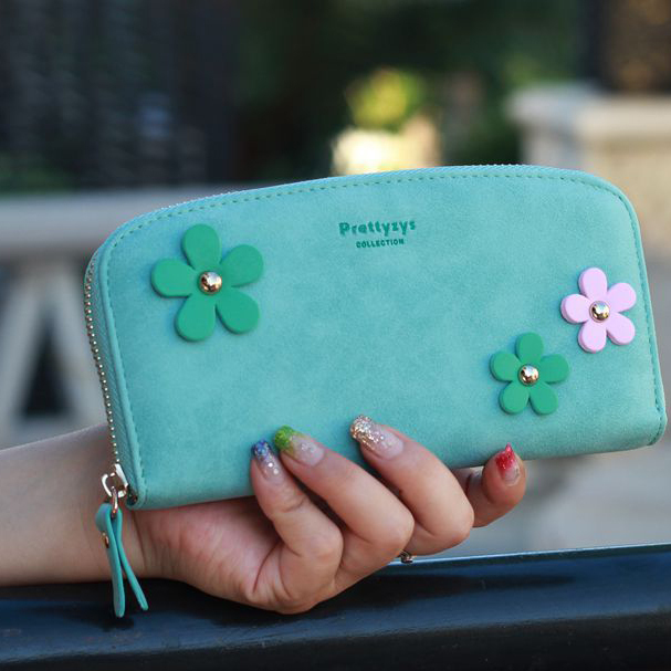 Fashion Round Wallet Candy Color Floral s