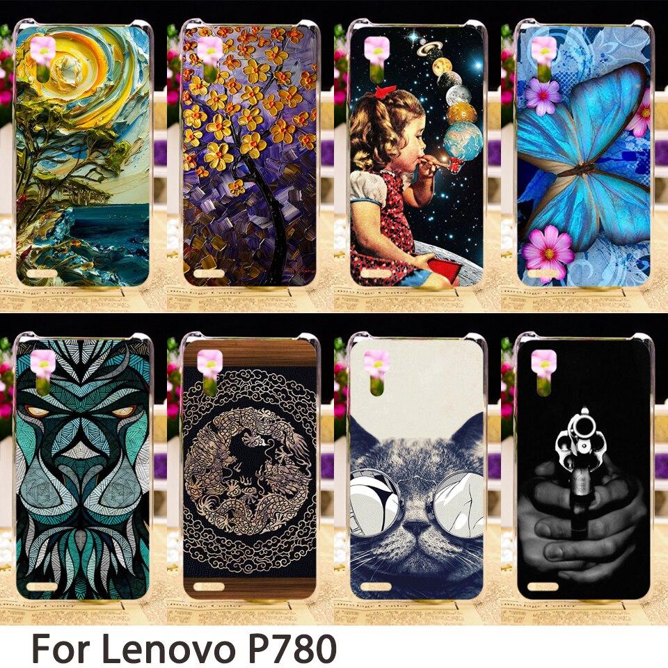 Galleria fotografica TAOYUNXI Morbido Casse Del Telefono Mobile Per Lenovo P780 5.0 pollice P 780 Casi di Animali sporcizia-resistente Dura <font><b>Cover</b></font> Posteriore Borse di pelle