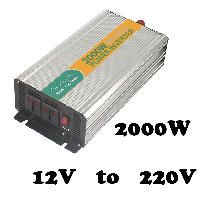 2000W 12v to 220v convert modified sine 12v 220/230v power inverter r fan built-in the fuse 2000w tbe inverter with inverte подвесная люстра odeon light alvada 2910 8