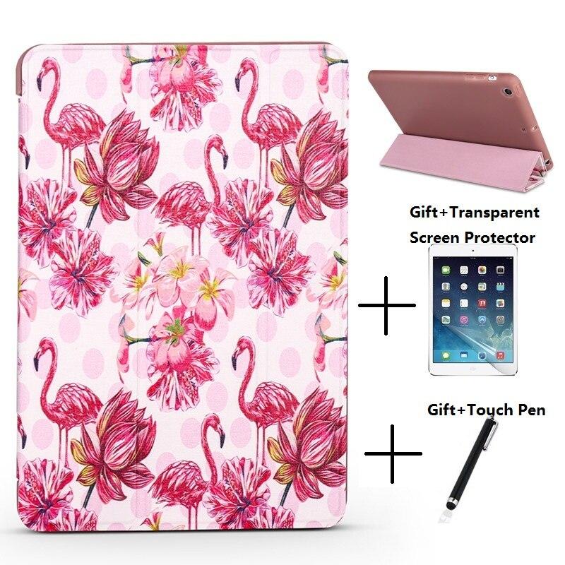 QUWIND Bird Opaque Soft Sleep Wake Up Holder Cover Case for iPad Mini 1234 iPad 234 iPad 2017 2018 iPad Air 1 2 Pro 9.7 10.5 ipad