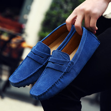 Купить с кэшбэком Men Casual Shoes 2018 Fashion Men Shoes Leather Men Loafers Moccasins Slip on Men Flats Loafers Male Shoes Big Size38-49