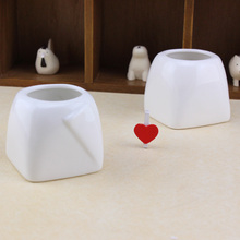 1pc new design creative ceramic flower pot white pottery bonsai pot for succulent plant desktop decor garden pot supplies