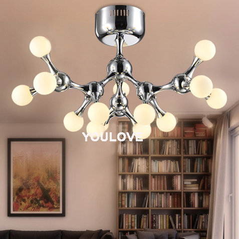Modern Ceiling Lights Fixture Led Dna Molecule Robot Dog Lamps Home Indoor Lighting Bedroom Restaurant Office Club In From