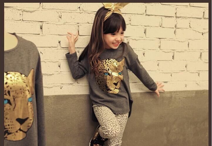 CNJiaYun Girls apģērbu komplekti Toddler Leopard Pattern Girls - Bērnu apģērbi - Foto 6