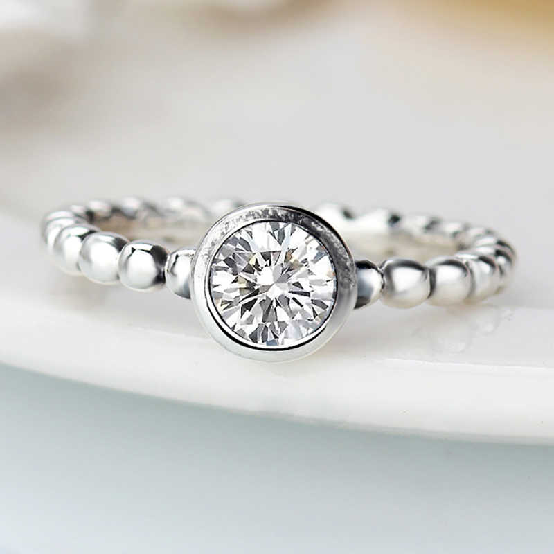 2ece85ced ... Fashion Flowers Pandora Finger Rings Clear CZ Dazzling Daisy Ring for Women  Wedding Jewelry Accessories ...