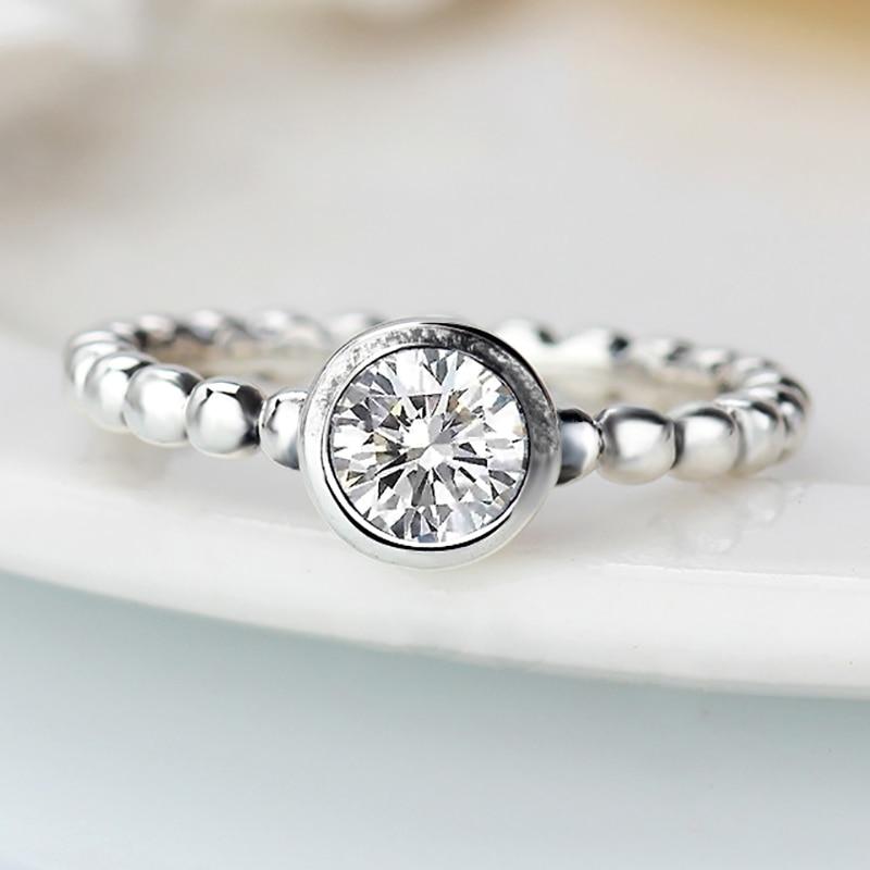 Mode Blumen Pandora Finger Ringe Klar Cz Dazzling Daisy Ring Fur